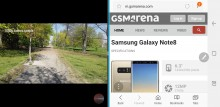 Multi-window: In landscape - Samsung Galaxy Note8 review