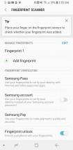 Fingerprint setup - Samsung Galaxy S8 Active review