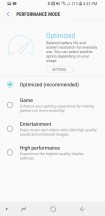 Performance modes - Samsung Galaxy S8 Active review