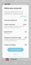 Medium power save mode - Samsung Galaxy S8 Active review