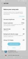 Medium power saving - Samsung Galaxy S8+review