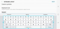 Keyboard size: Largest in landscape   High-contrast mode - Samsung Galaxy S8 review
