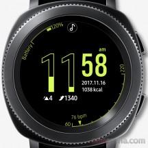 Standard Hourglass watch face - Samsung Gear Sport review