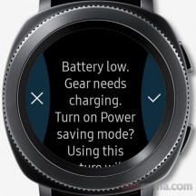 Battery low warning - Samsung Gear Sport review