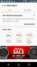 Update & install apps - Samsung Gear Sport review