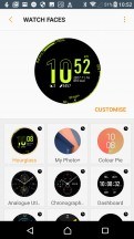 Configure watch faces - Samsung Gear Sport review