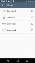 Clock styles - Sony Xperia L1 review