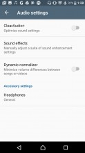 Audio settings - Sony Xperia L1 review