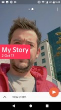 The Movie Creator can automatically or manually make shareable slideshows - Sony Xperia XA1 Plus review