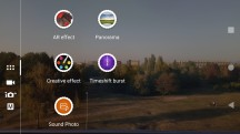 Camera UI - Sony Xperia XA1 Plus review