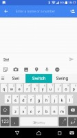 Swiftkey keyboard is the default text input method - Sony Xperia XA1 Ultra review