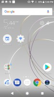 Pinned homescreen shortcuts - Sony Xperia XZ1 Compact review
