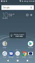 Homescreen - Sony Xperia XZ1 review