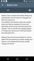 Battery Care - Sony Xperia XZs review