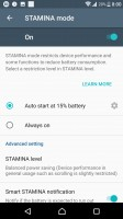 Stamina mode - Sony Xperia XZs review