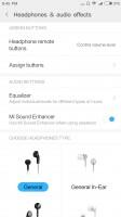 Audio settings - Xiaomi Mi 5X review