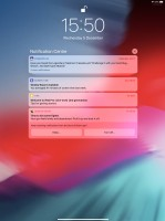 Notification Center - Apple iPad Pro 12.9 (2018) review