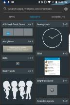 Widgets - Blackberry KEY2 review