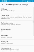Launcher settings - Blackberry KEY2 review