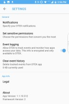Event notification settings - Blackberry KEY2 review