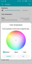 Color temperature adjustment - Huawei Honor View 10 review