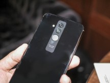 The Mate design has been updated with curved sides on the back - Huawei Mate 20 Lite hands-on review