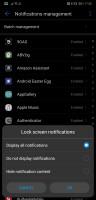 Lockscreen notification settings - Huawei P20 Pro long-term review