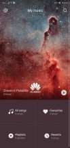 Music app: Home page - Huawei P20 review