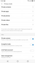Privacy mode - Meizu 15 review