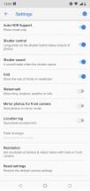 Photo settings - Nokia 7.1 review