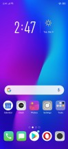 Lockscreen, home screen and left pane - Oppo RX17 Pro review