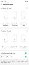 Settings menu and display menu - Oppo RX17 Pro review