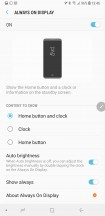 AOD settings - Samsung Galaxy Note9 review
