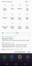 Notifications • Toggles • Toggle grid options • Task switcher: List view - Samsung Galaxy Note9 review
