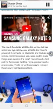 Snap window - Samsung Galaxy Note9 review