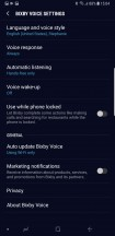 Bixby Voice: Settings - Samsung Galaxy Note9 review