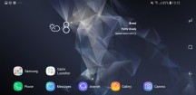 In landscape: Homescreen - Samsung Galaxy S9+ review