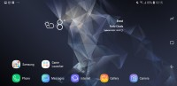 In landscape: Homescreen - Samsung Galaxy S9 review