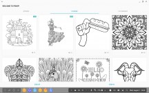 A digital coloring book - Samsung Galaxy Tab S4 10.5 hands-on review