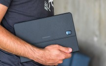 The cover has a grippy texture - Samsung Galaxy Tab S4 10.5 hands-on review