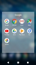 Xperia launcher: Folder view - Sony Xperia L2 review