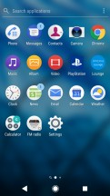 App drawer - Sony Xperia L2 review