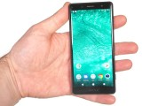XZ2 Compact in a hand - Sony Xperia XZ2 Compact review