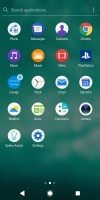 App drawer - Sony Xperia XZ2 Compact review