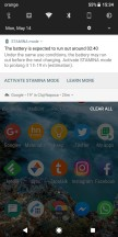 Stamina Mode notification - Sony Xperia XZ2 long-term review
