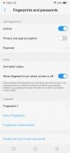 Fingerprint settings - vivo NEX S review