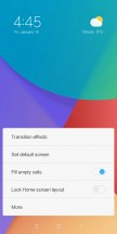 Launcher settings - Xiaomi Redmi 5 review