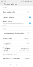 Video UI and settings - Xiaomi Redmi 5 review