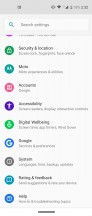 General settings menu - Motorola One Vision review