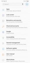 Settings menus - Samsung Galaxy M10 review